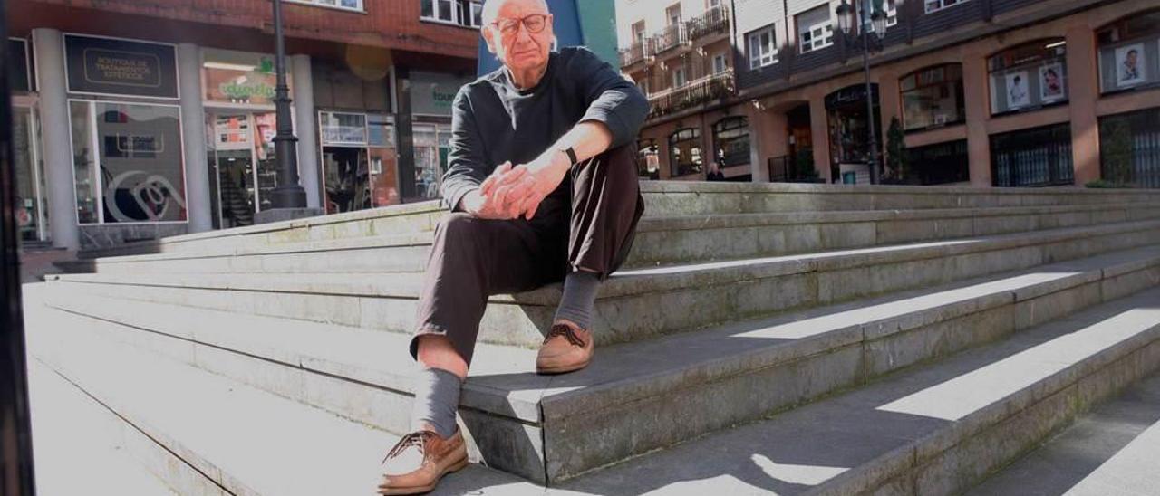 Tony Palmer, ayer, en Oviedo.