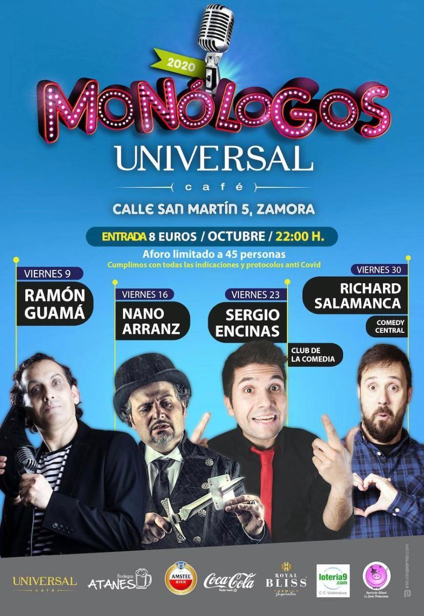 Café Universal. Monólogos octubre 2020