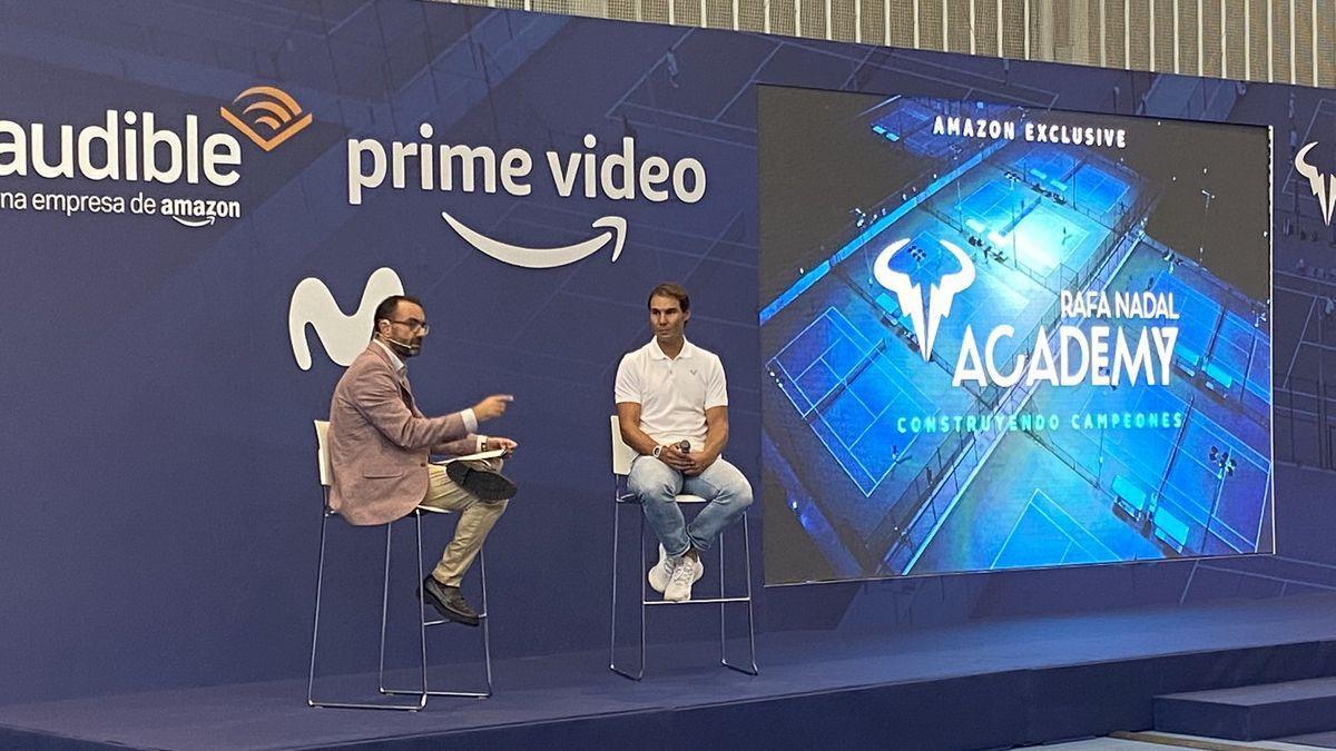 Rafa Nadal durante la presentación del documental sobre su Academia.