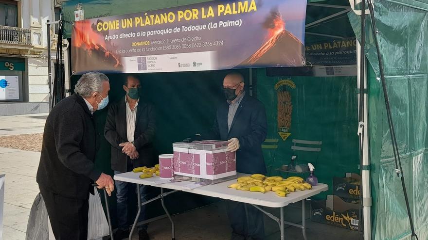 'Come un plátano por La Palma', la campaña zamorana en solidaridad con los afectados por el volcán