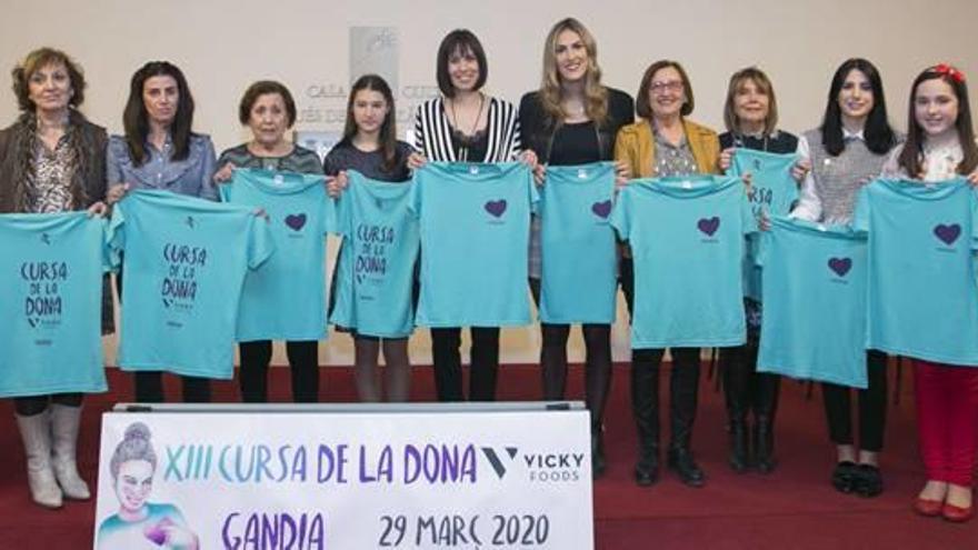 Gandia Presentación de la XIII Cursa de la Dona Vicky Foods