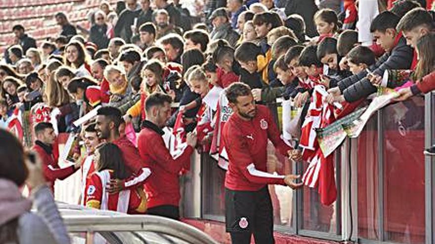 El Girona obrirà als aficionats l'entrenament del primer equip per Sant Narcís