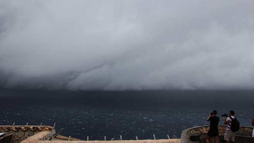 Así se produjo la tormenta en la Serra de Tramuntana