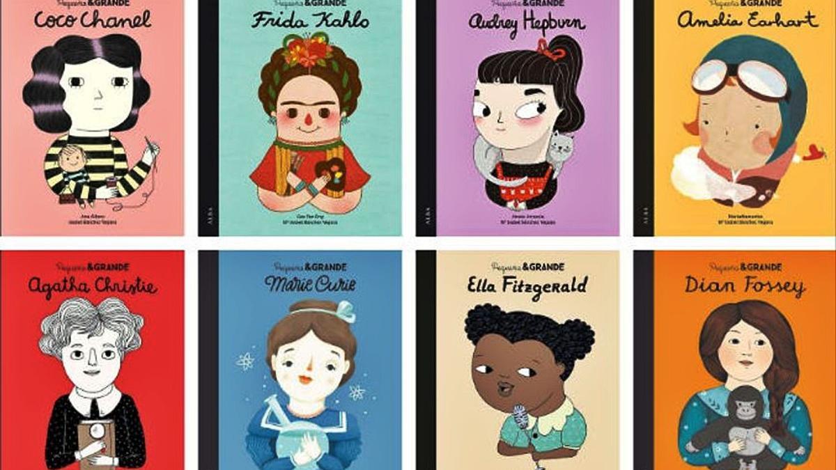 Algunas de las portadas de los libros de la colección 'Pequeña & Grande', de Alba Editorial.