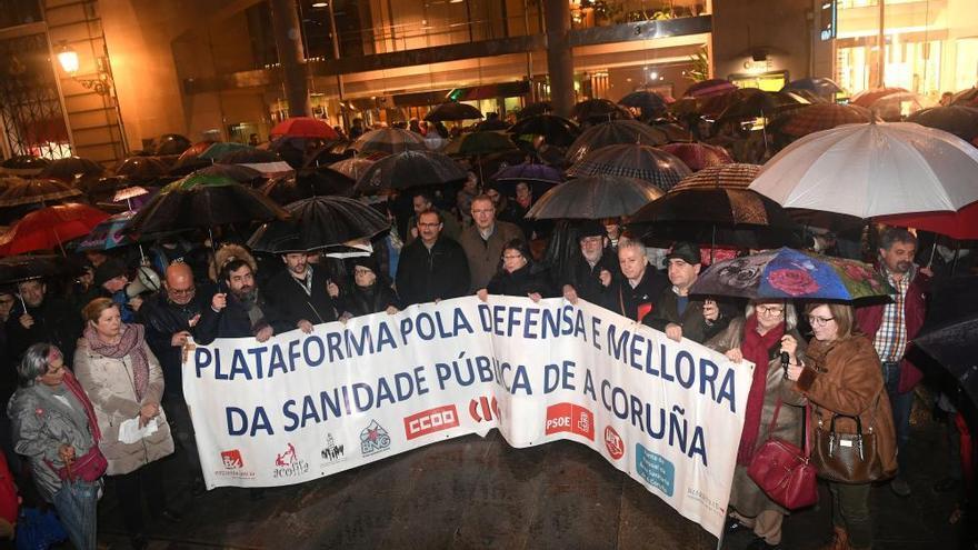 Concentración en A Coruña contra los recortes en Sanidad