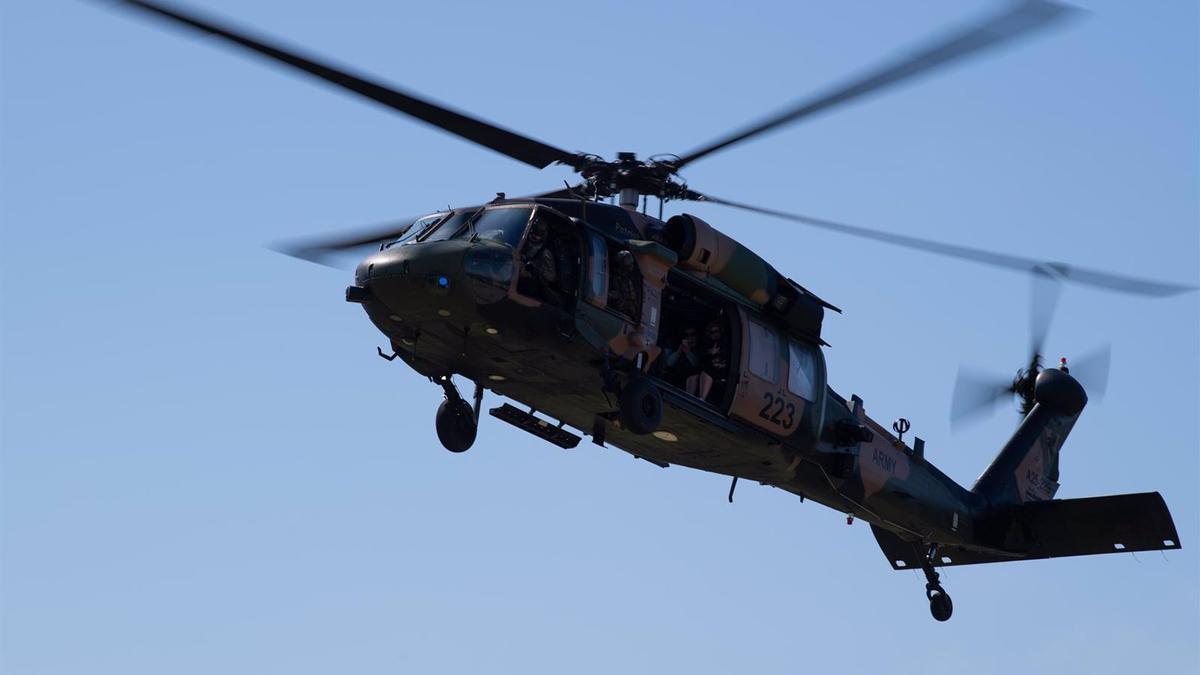 Un helicóptero Black Hawk, en imagen de archivo.