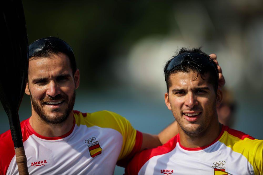 Los dos deportistas, oro en Río // EFE
