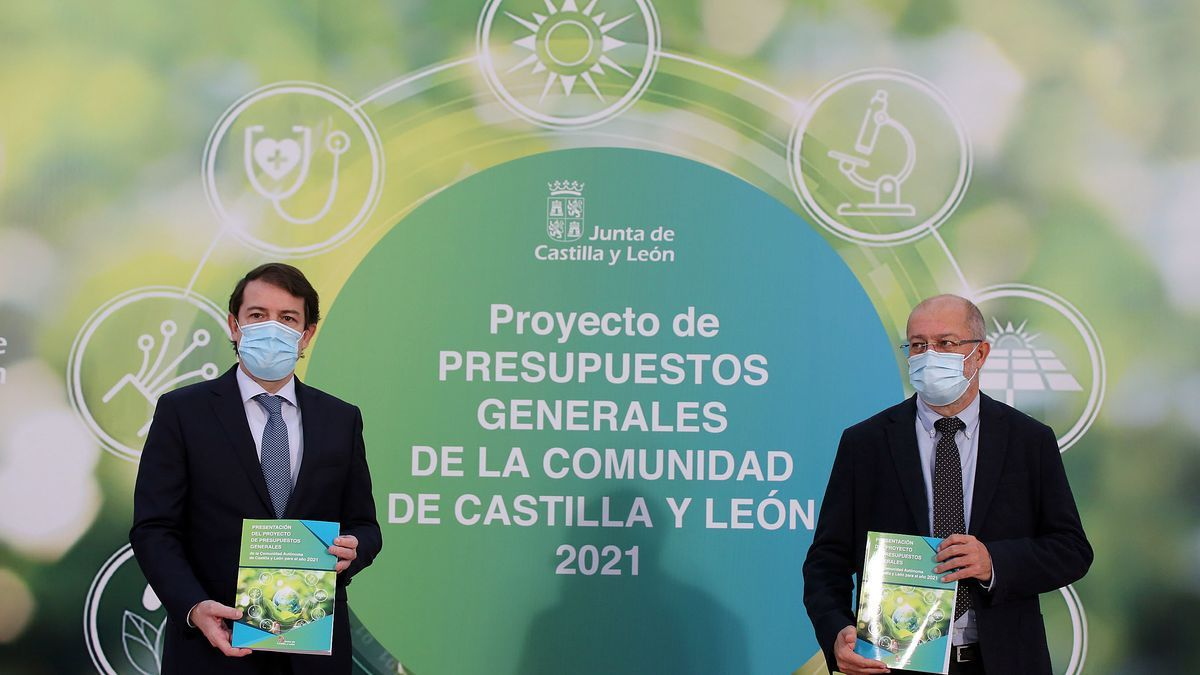 Mañueco e Igea presentan el proyecto de ley de Presupuestos Generales de Castilla y León.