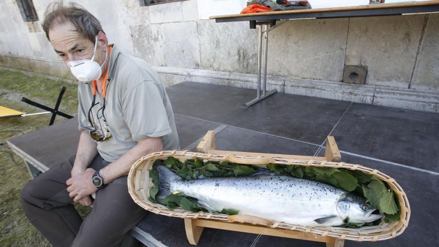 Los salmones se dejan ver en los ríos, a punto de autorizarse la pesca sin muerte