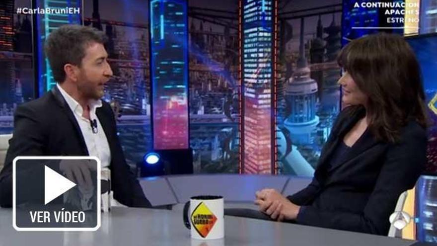 Pablo Motos saca el lado más íntimo de Carla Bruni