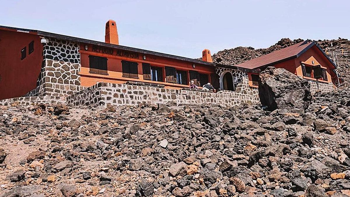Imagen de archivo del Refugio de Altavista, en el Parque Nacional del Teide.