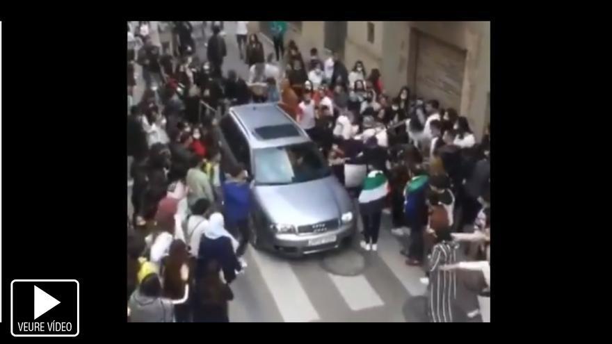 Cinc identificats per una baralla durant una manifestació pels bombardejos de Gaza a Figueres