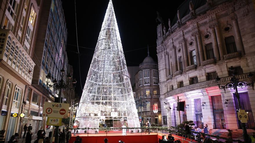 La Navidad ya brilla en Vigo