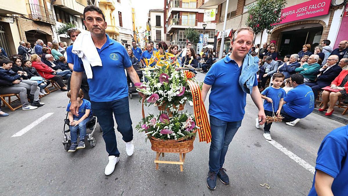 Imagen de la ofrenda a Sant Pasqual celebrada en mayo del 2019, la última que tuvo lugar antes de la pandemia.