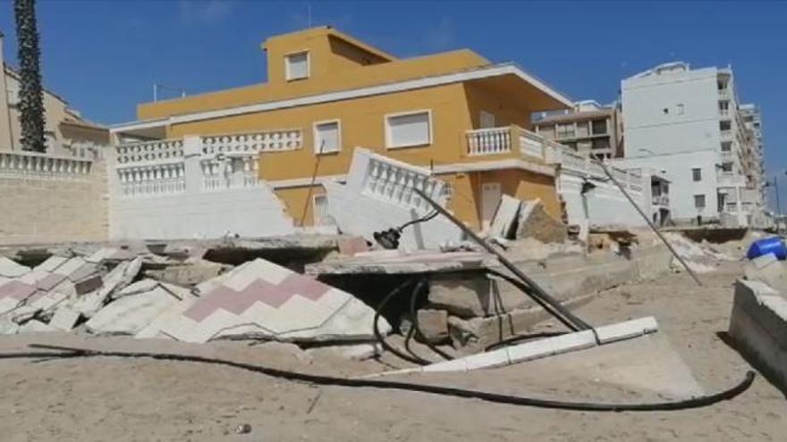 Así se encuentra el paseo marítimo de El Perelló hasta su reconstrucción en junio