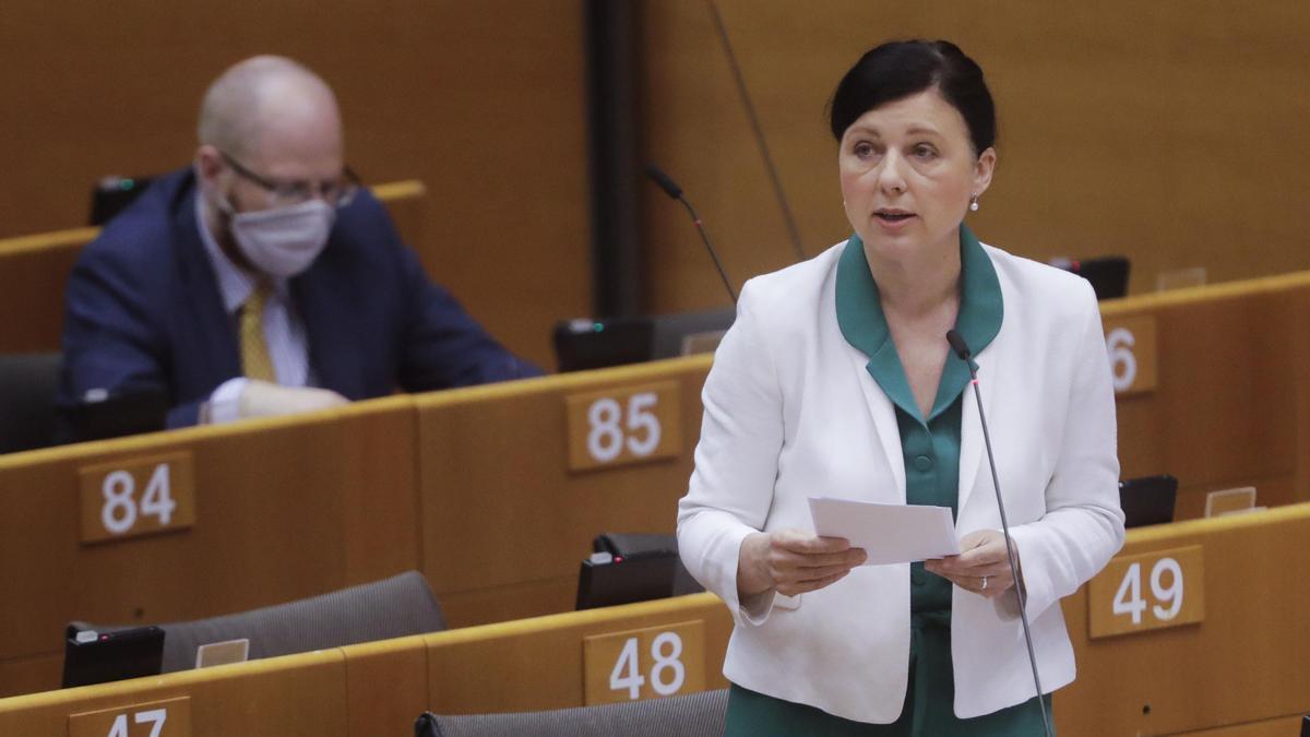 La vicepresidenta de la UE para Valores Y Transparencia, Vêra Jourová.