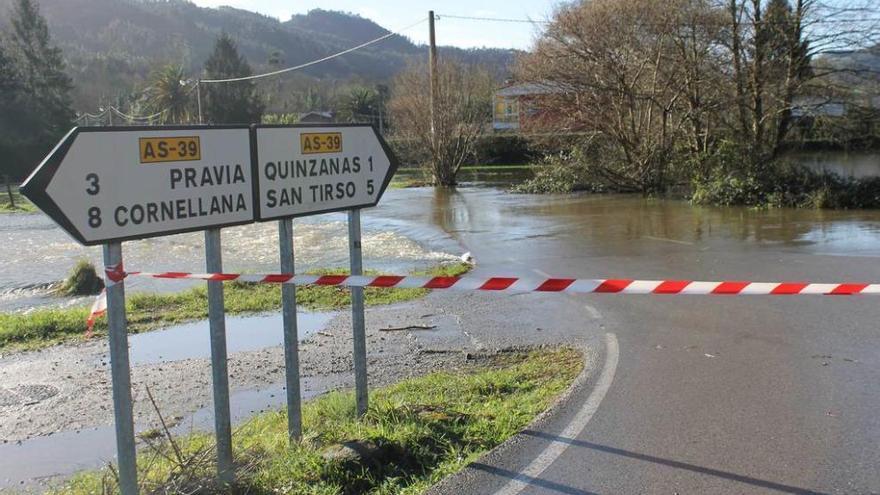 La lluvia y el deshielo complican el Nalón, con situación de alerta ya en Corias (Cangas del Narcea) y Quinzanas (Pravia)