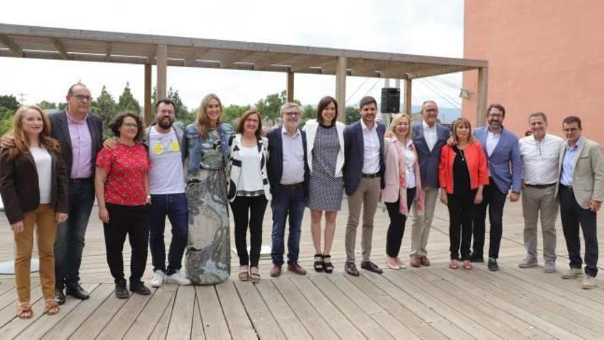 Emblema de legislatura Allí se firmó el Pacte del Serpis entre el PSPV-PSOE y Compromís +GU