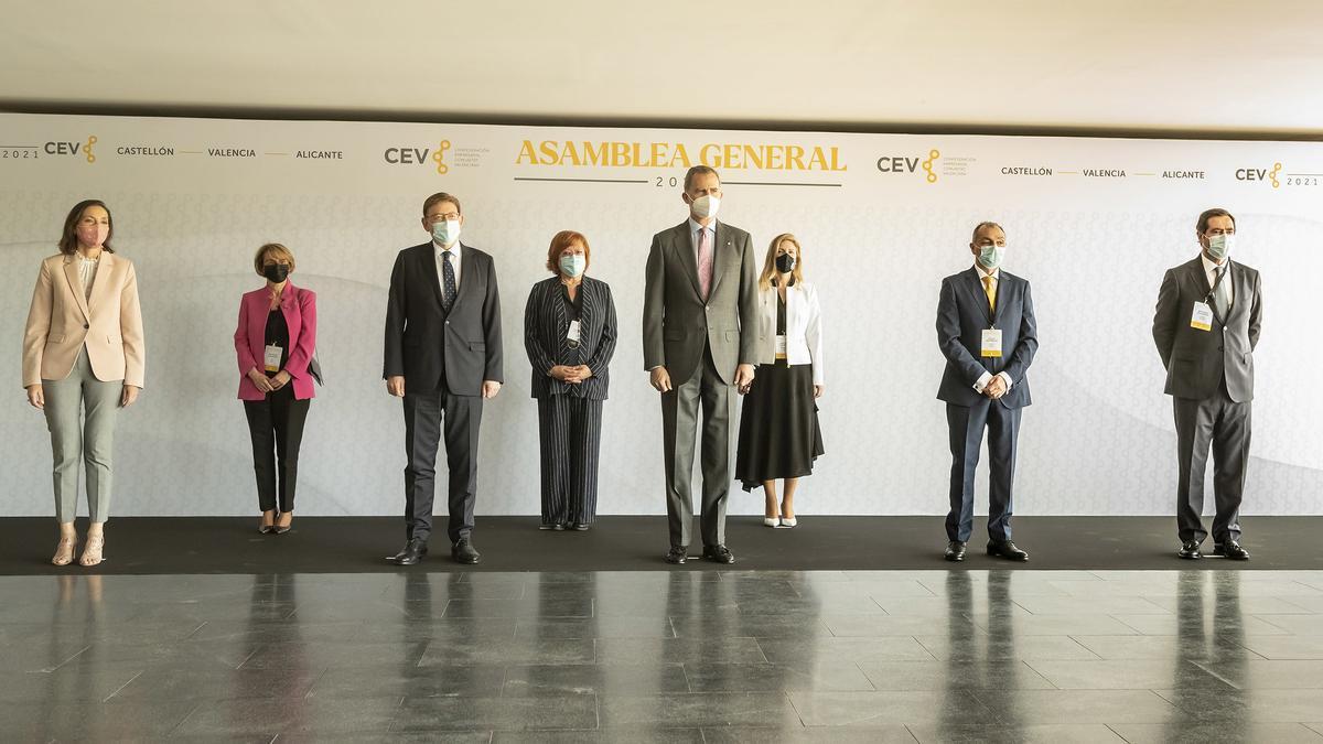 Llegada del rey Felipe VI a la asamblea de la CEV en Castelló