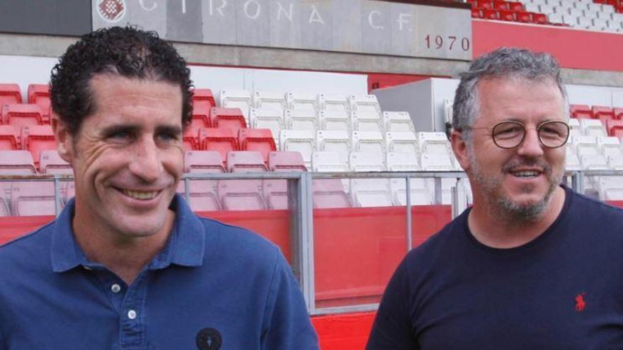 Els dos escuders gironins que l'acompanyen a Sevilla: Balcells  i Guerrero