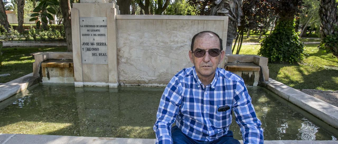Ángel Urbina, veterano regante del Tajo-Segura