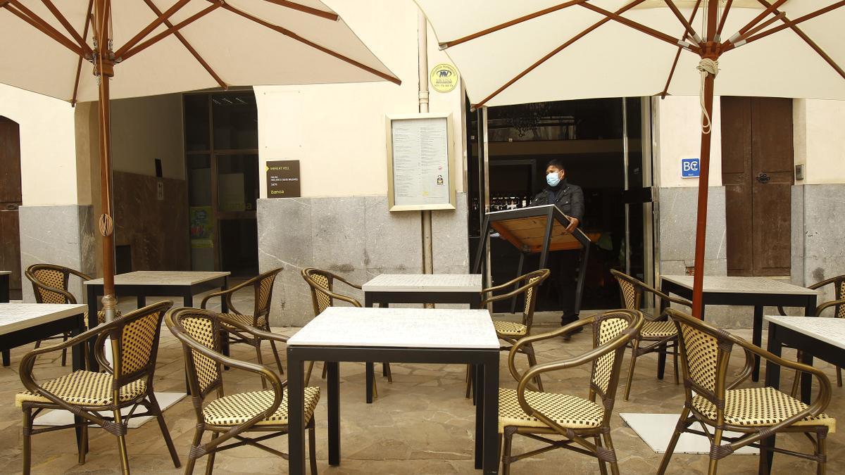 Imagen de la terraza de un restaurante.