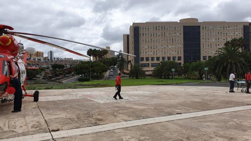Rescatada una senderista herida tras sufrir una caída en Los Cernícalos