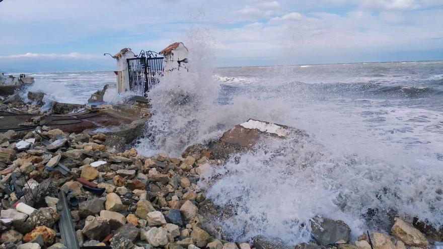 Filomena agranda la herida de Gloria en la costa de Dénia
