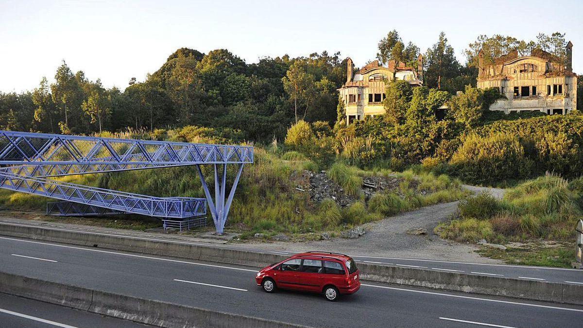 Vista de las casas Bailly y su entorno.