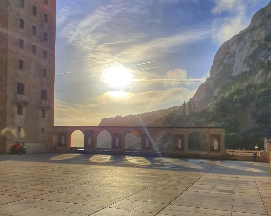 Dia radiant a Montserrat