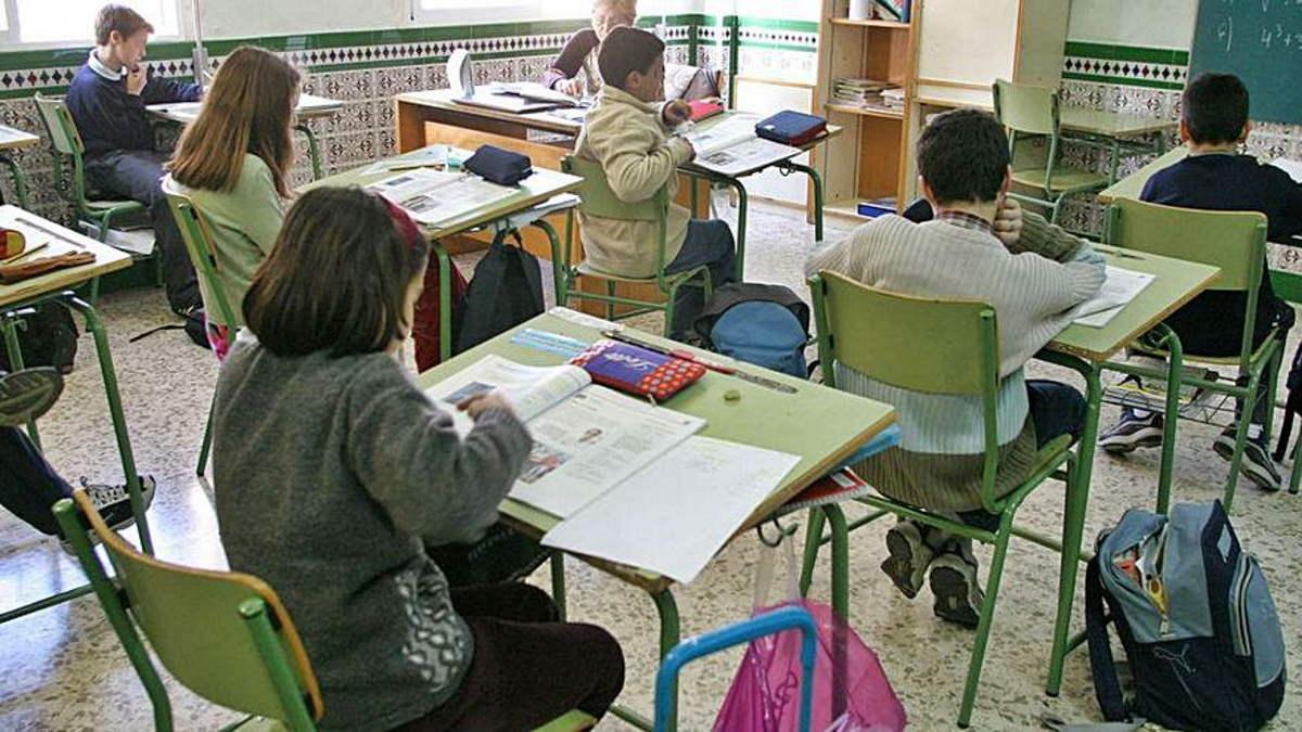 Alumnos en una clase de Primaria de Málaga.