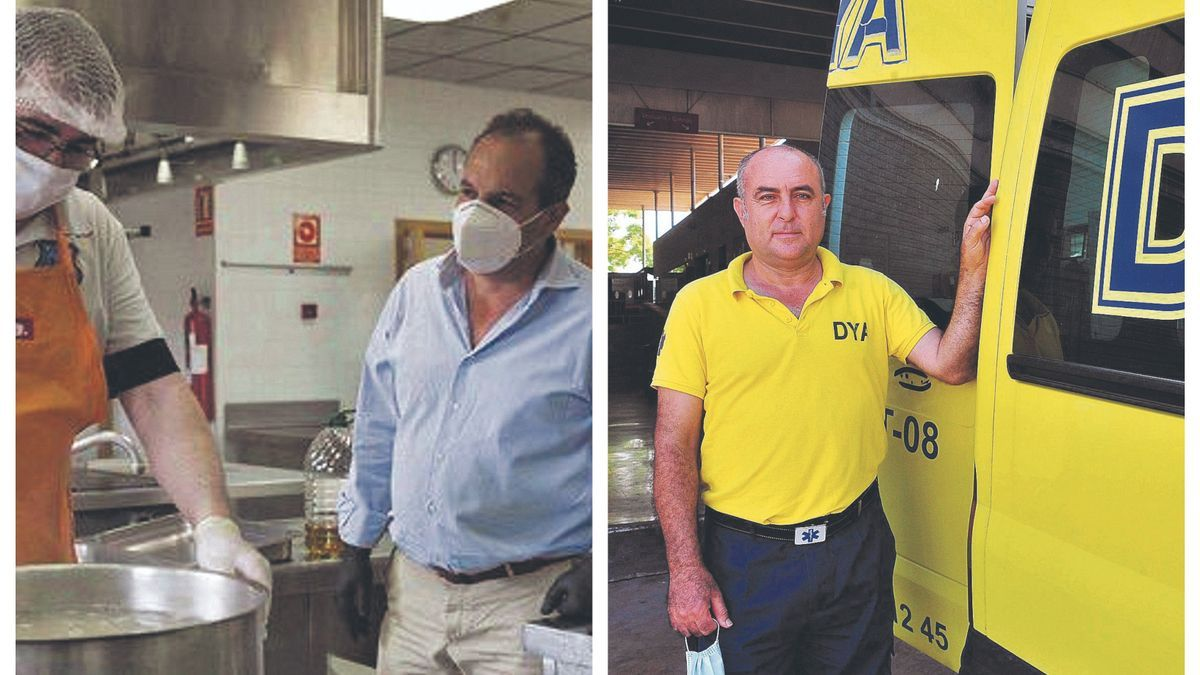 Carlos Bath, coordinator of Alicante Gastronomica.  Antonio Tarí is the coordinator of the DYA association in Elche.