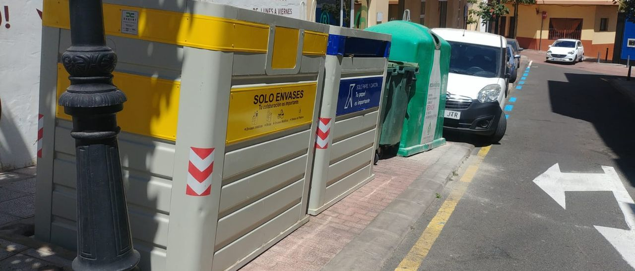 Contenedores de basura en Gáldar