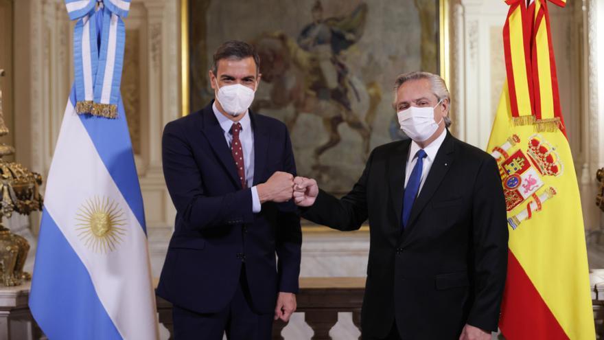 Sánchez inicia en Buenos Aires una intensa visita de 24 horas