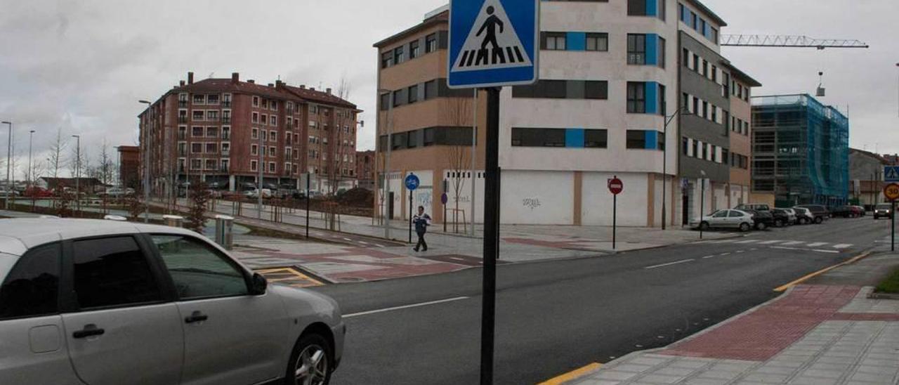 El bulevar de Lugones, poco después de su inauguración.