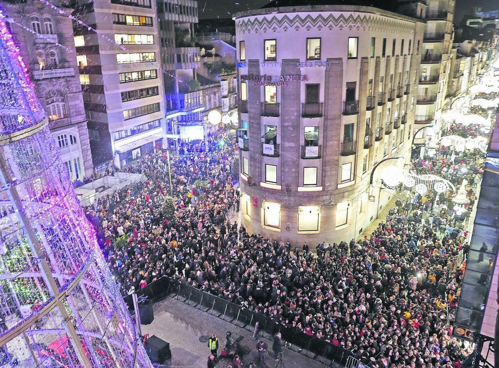 El año que los vigueses vivieron masivamente la Navidad
