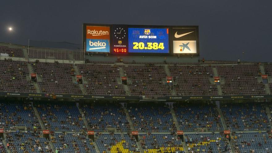 El fiasco del regreso del público a los estadios: el 17,5% de los asientos se quedaron vacíos