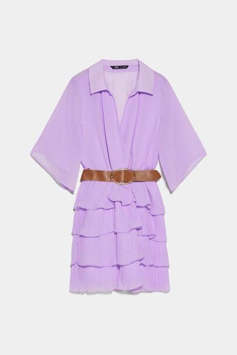 Vestido lila de Zara. (Precio: 39,95 euros)