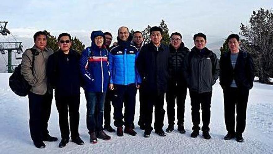 Estacions d'esquí xineses, interessades en la producció de neu de Masella