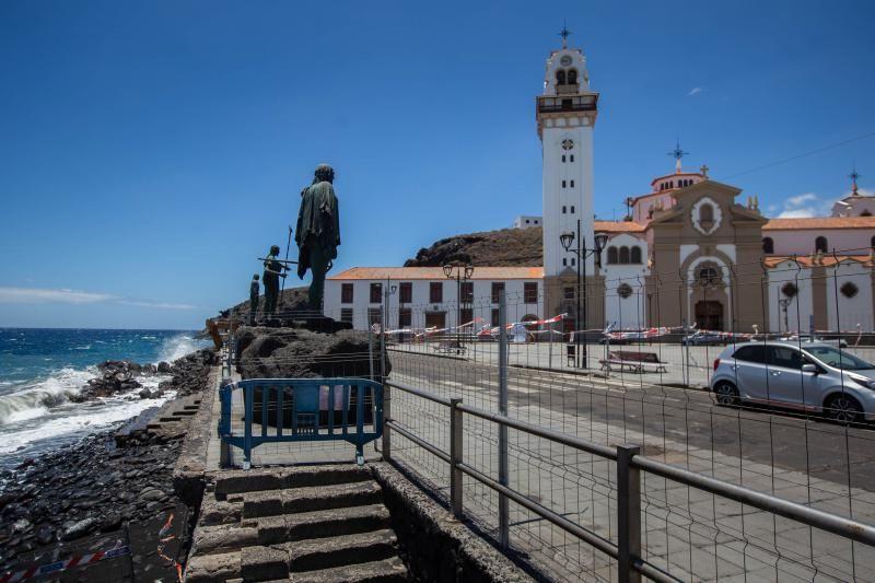 Obras en el entorno litoral de la plaza de la Basílica de Candelaria