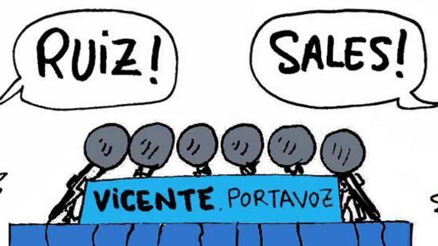 Vicente-Ruiz disputará a Sales la portavocía del PP en la diputación