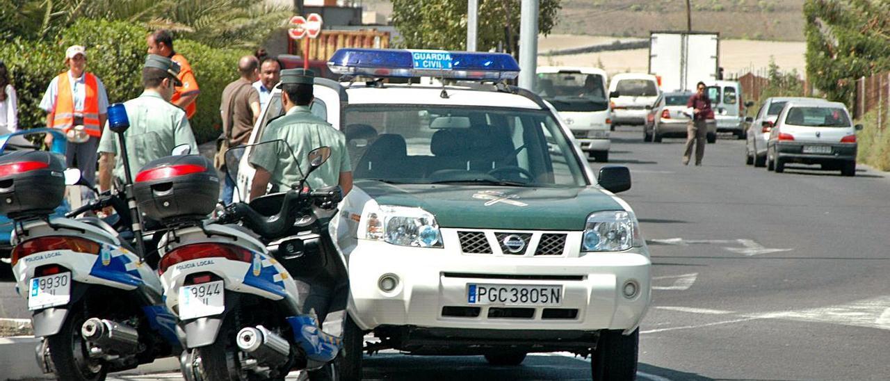 Imagen de archivo de los agentes de la Guardia Civil durante la búsqueda de Yéremi Vargas. |