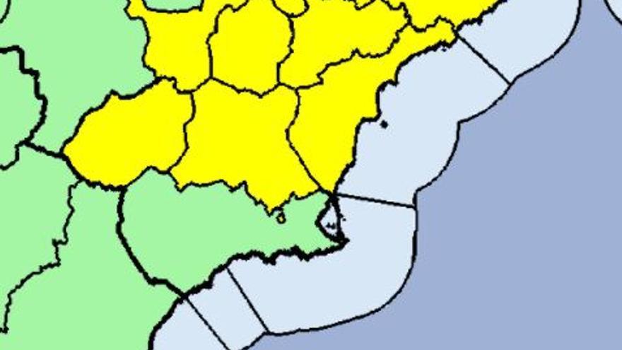 Tiempo en Murcia: Alerta amarilla por lluvias y tormentas mañana en la Región