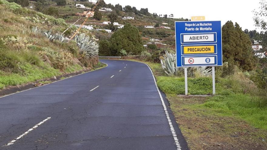 Abiertas las carreteras del Roque de los Muchachos y Los Brecitos