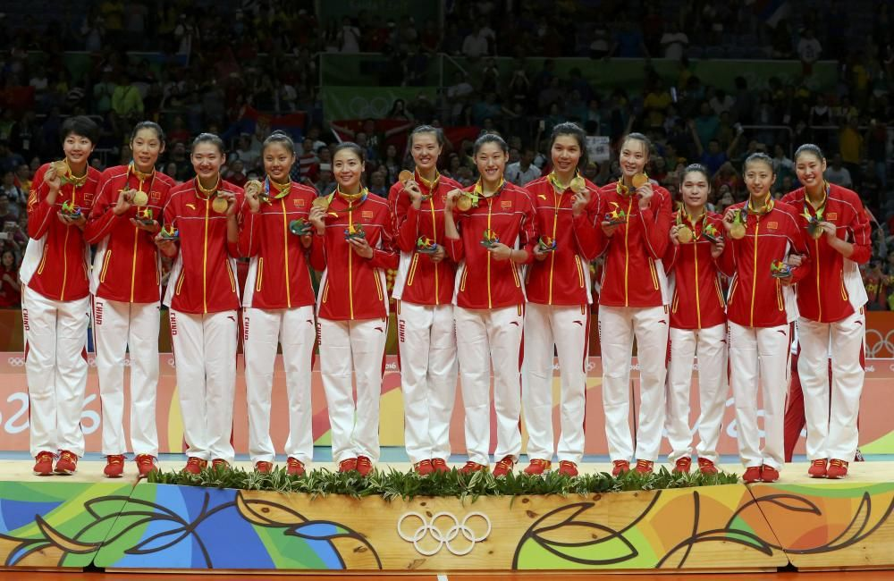 Final gimnasia rítmica: El equipo ruso con el oro olímpico.
