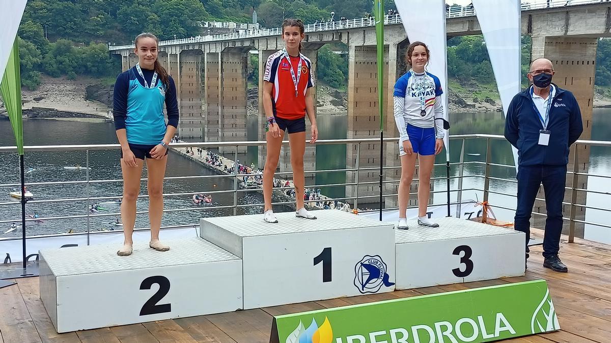 Marina Giralda, en el podio.