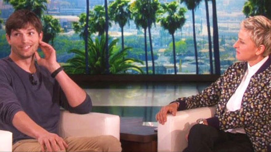 Ashton Kutcher se confiesa con Ellen