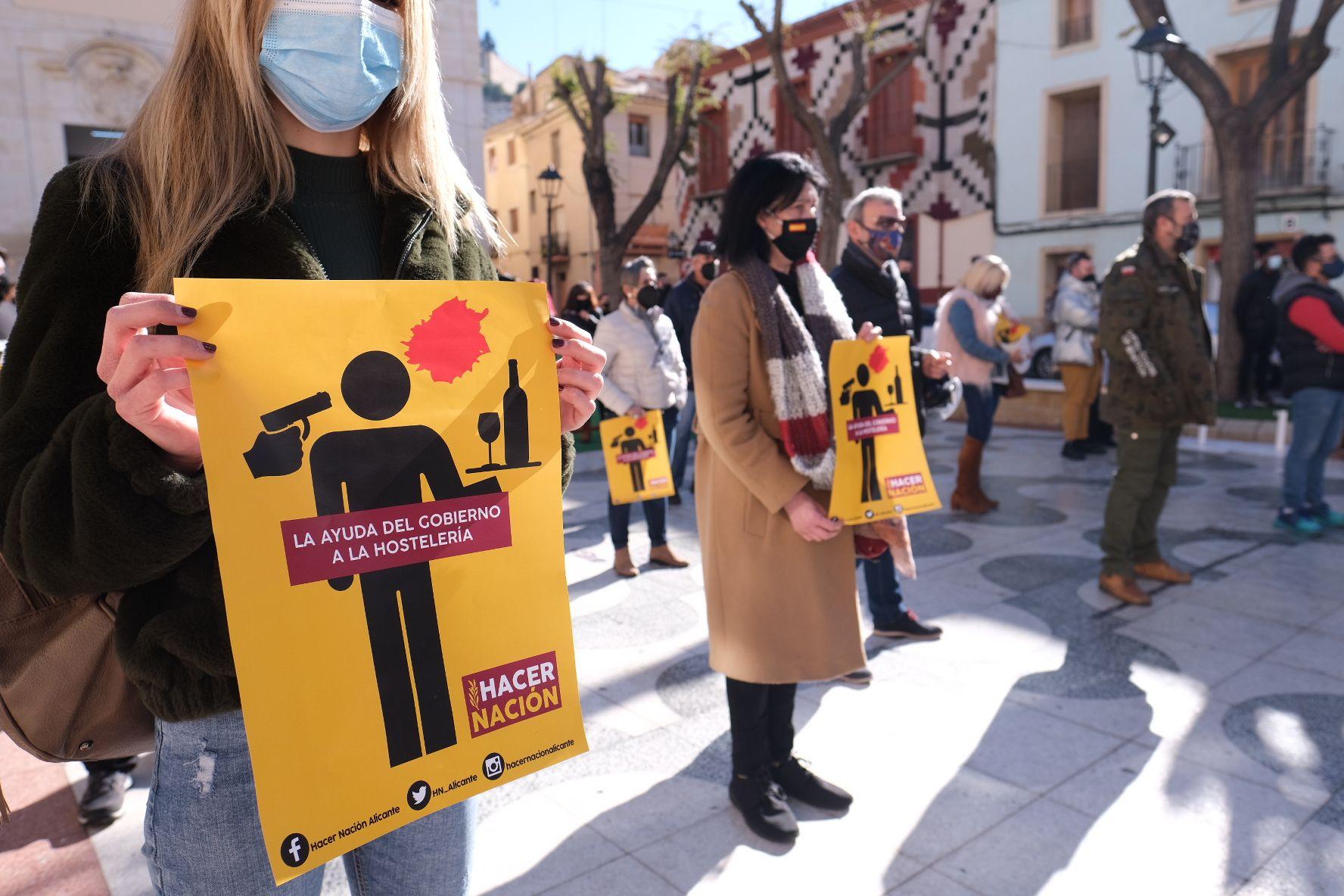 Protesta de los hosteleros de Petrer