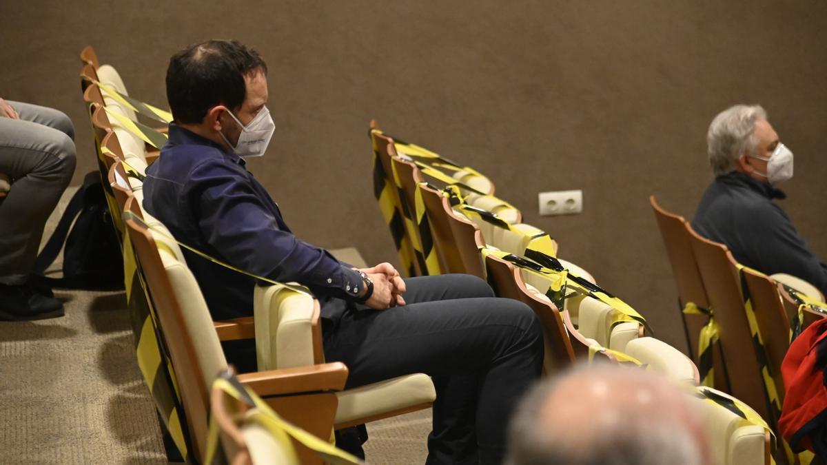 El exalcalde de Vila-real, Juan José Rubert, en una de las sesiones de la vista en la Audiencia Provincial.