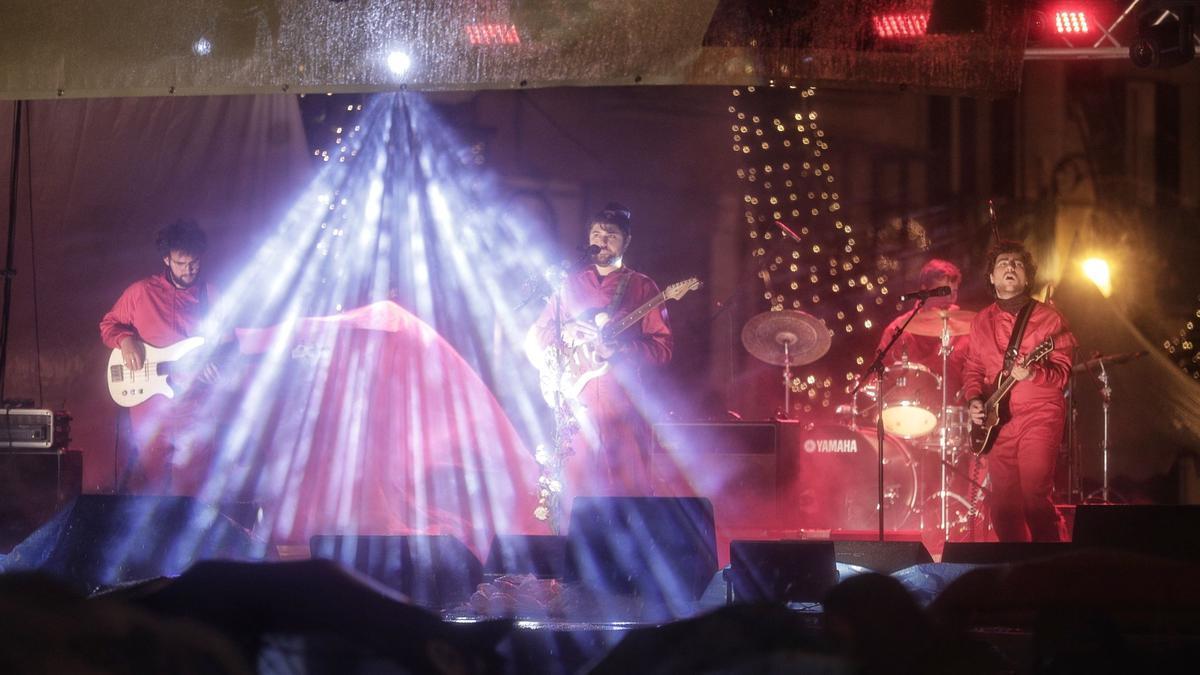 Salvatge Cor, uno de los grupos finalistas, en una de sus actuaciones